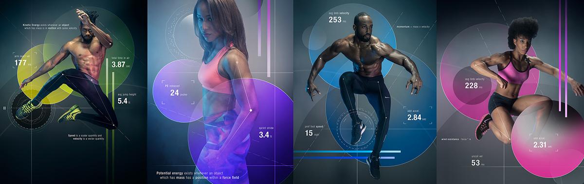 fitness Nike muscles athletes atlanta Health lighting