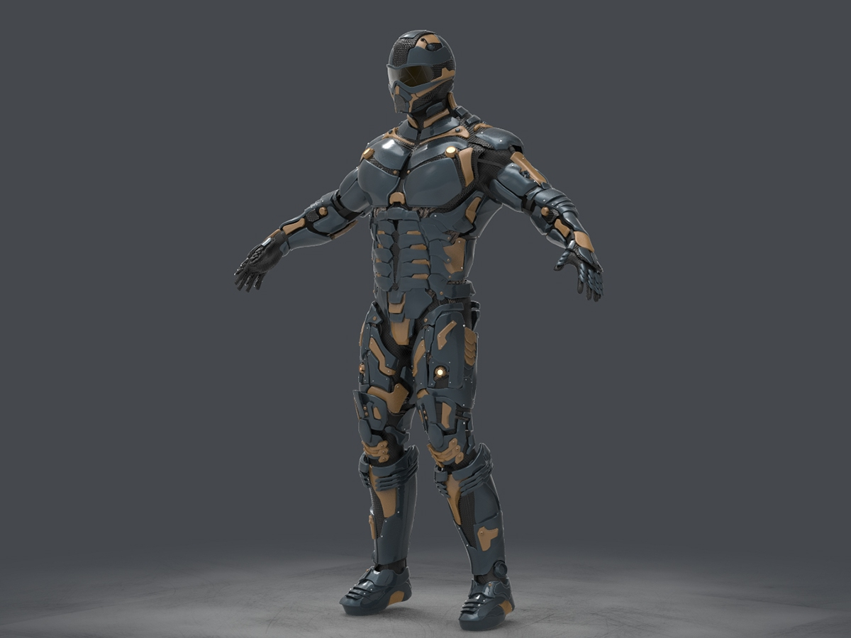 Sci-Fi Armor - 3DStudy of hard surface on Behance