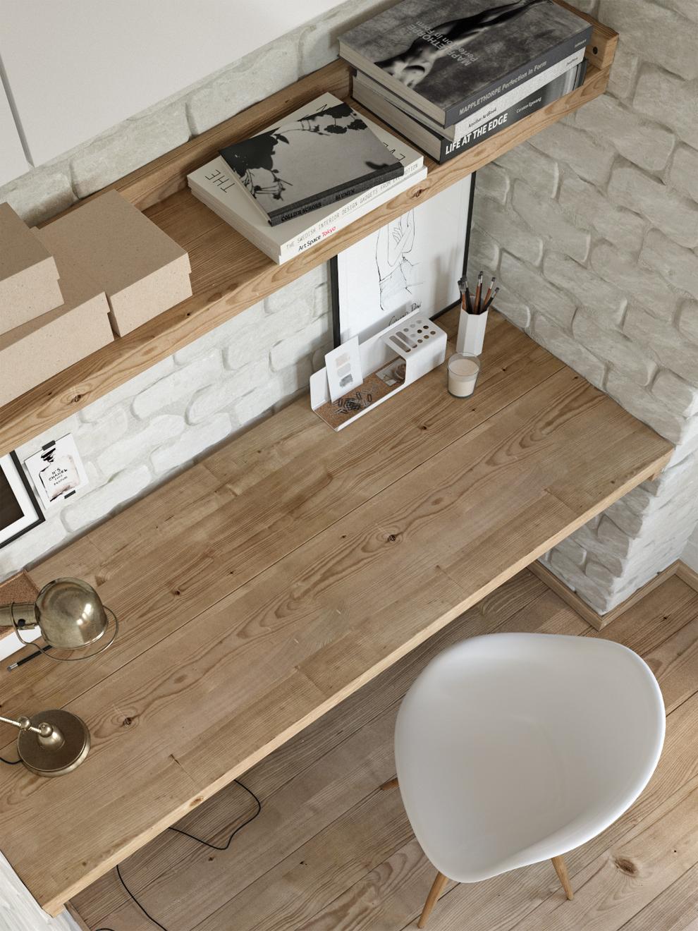 home office corona render  cg art