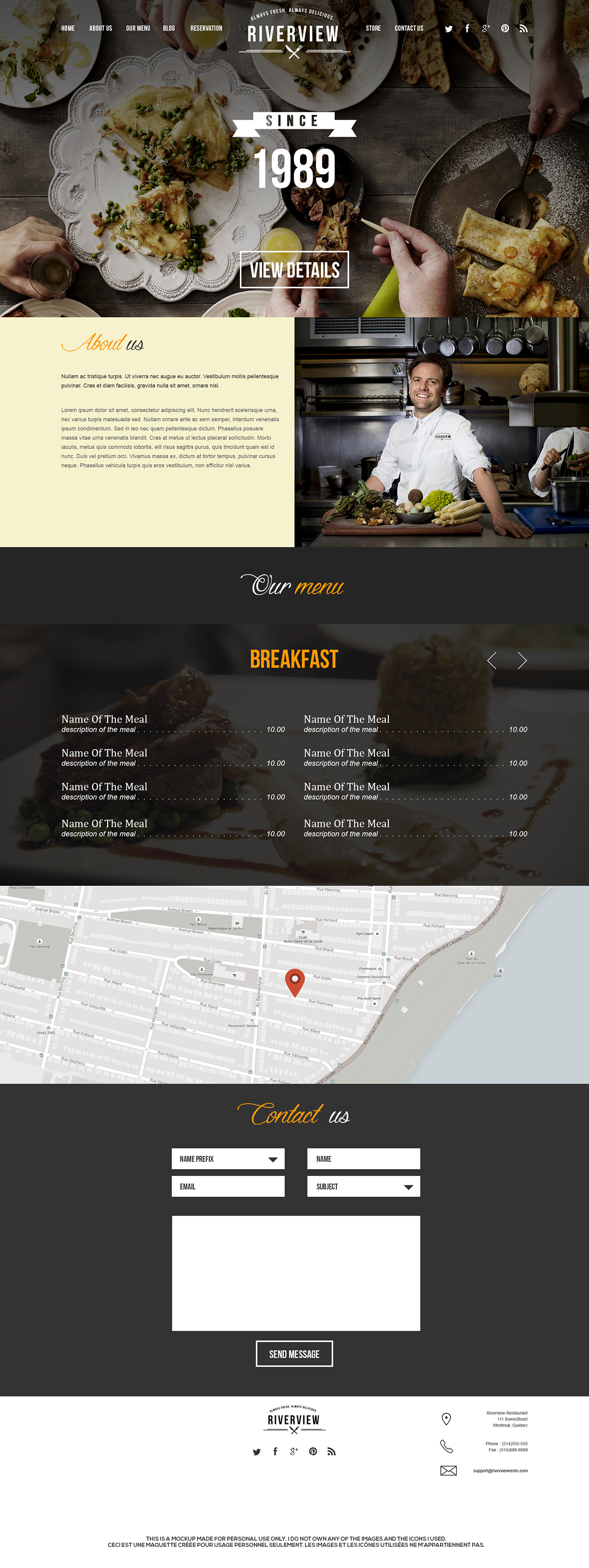 Web,design,UI,ux,restaurant