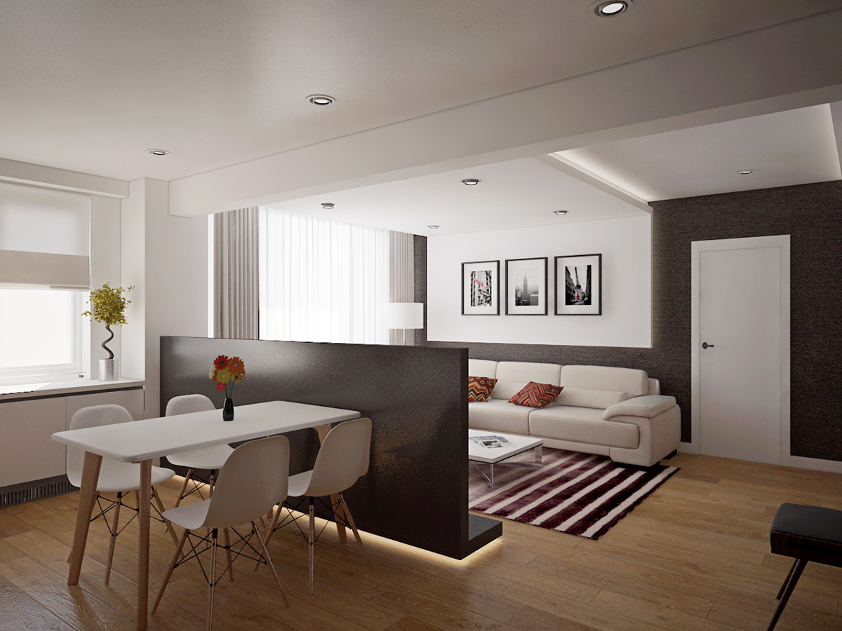 Open space apartment in romania on behance publicscrutiny Image collections