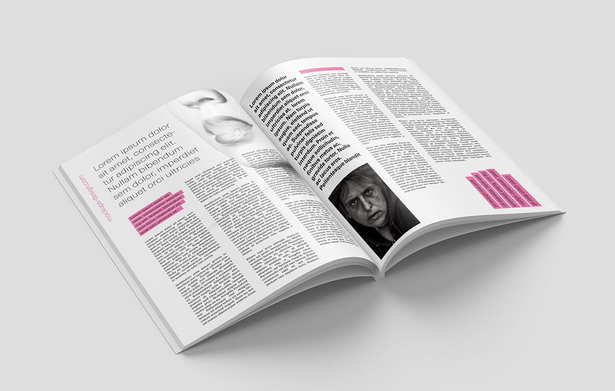 Mockup magazine editorial free psd catalog book