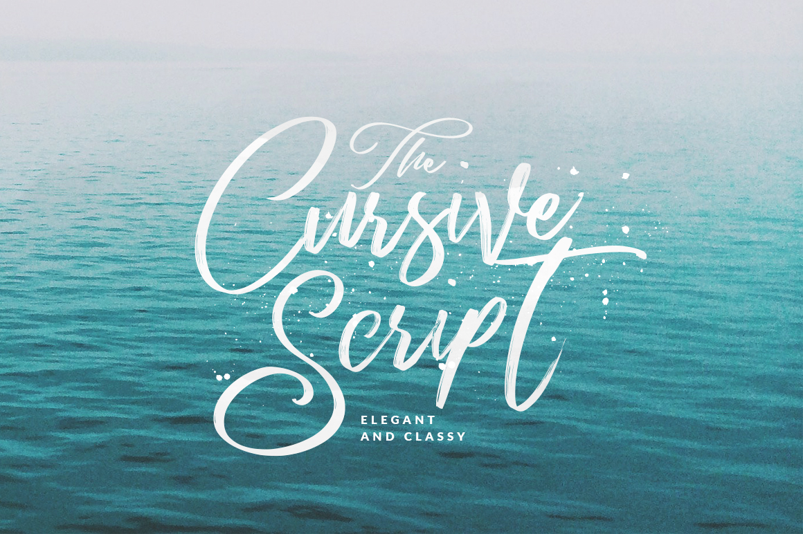 cursive script with authentic dry brush imperfections and a very bouncy baseline it has a perfectly paired complimentary marker font and a super handy