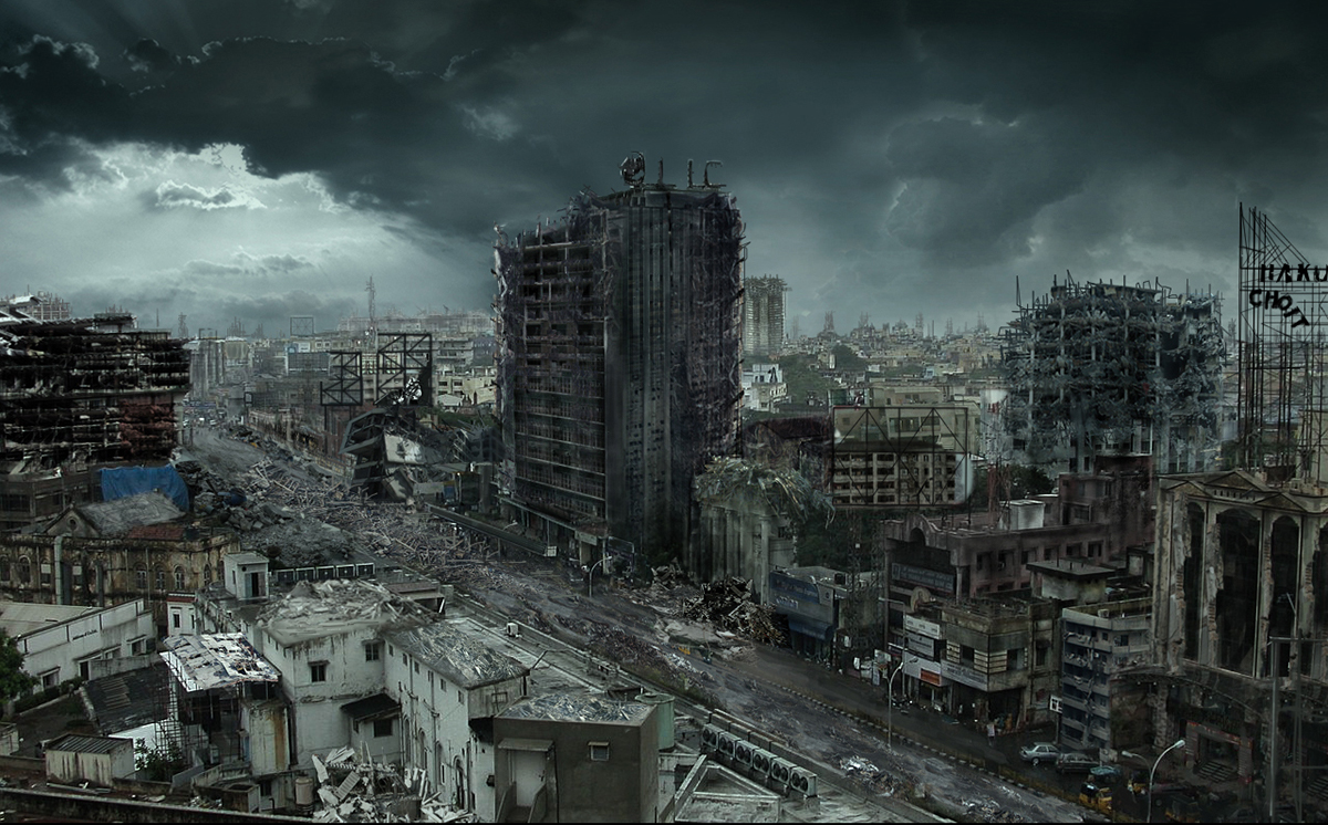 Destroyed City Matte Painting 2010 On Behance