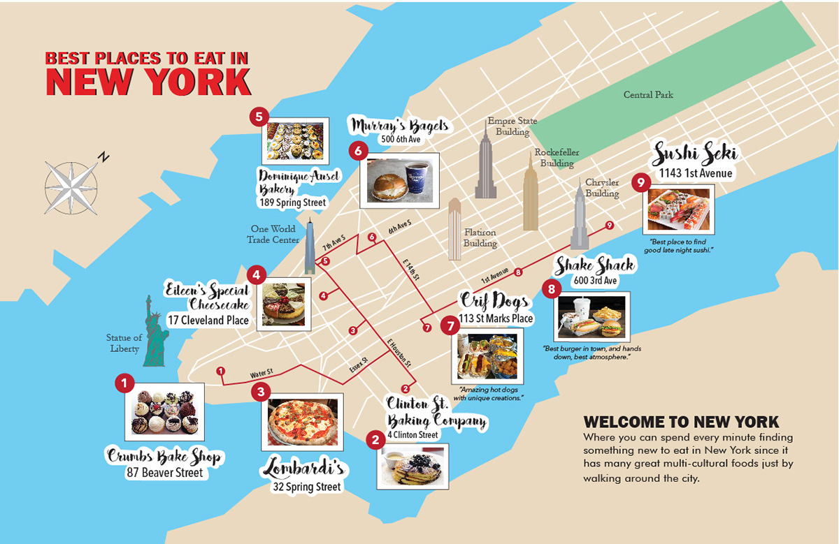 york map places eat behance