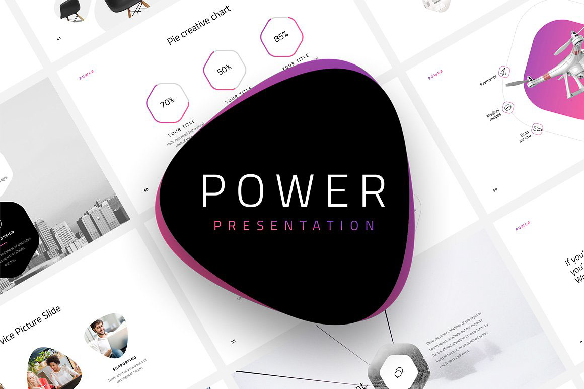Power free minimal powerpoint template on behance toneelgroepblik Image collections