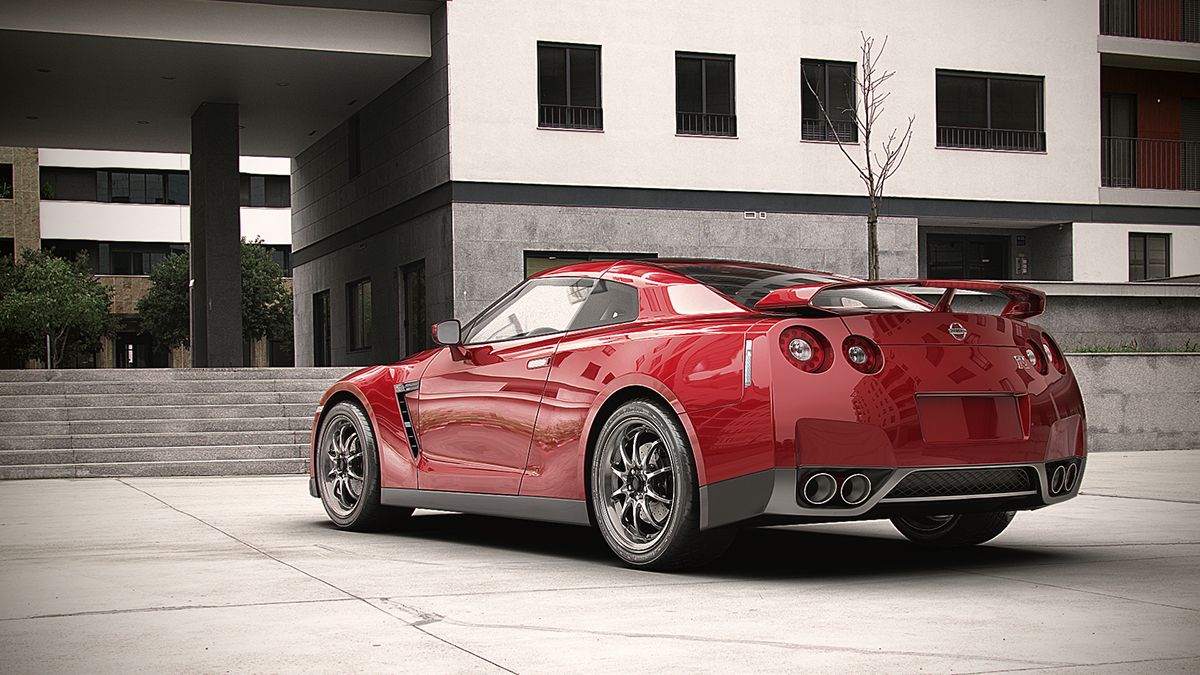 Nissan Gtr 2014 Project On Behance Gt R 3ds Max Vr