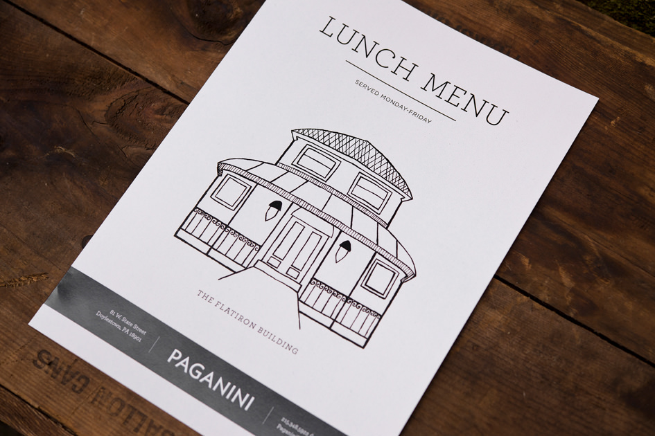 Rebrand restaurant doylestown Bucks County Logo Design food photography signs