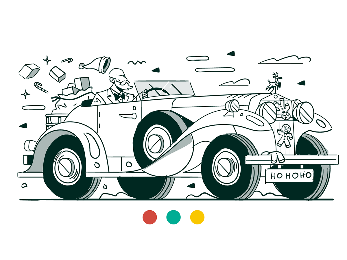 Image may contain: land vehicle, cartoon and vehicle