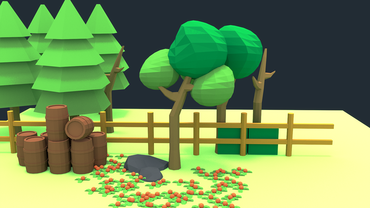 Free Low Poly 3D Game Assets on Behance