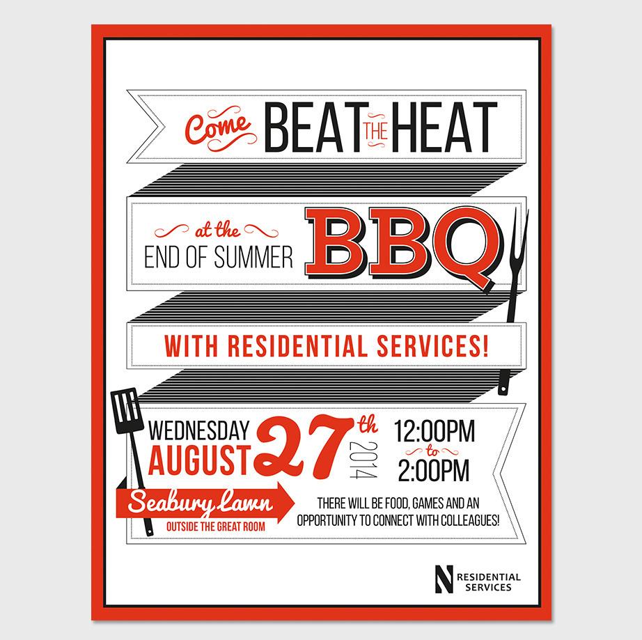 summer bbq invite on behance