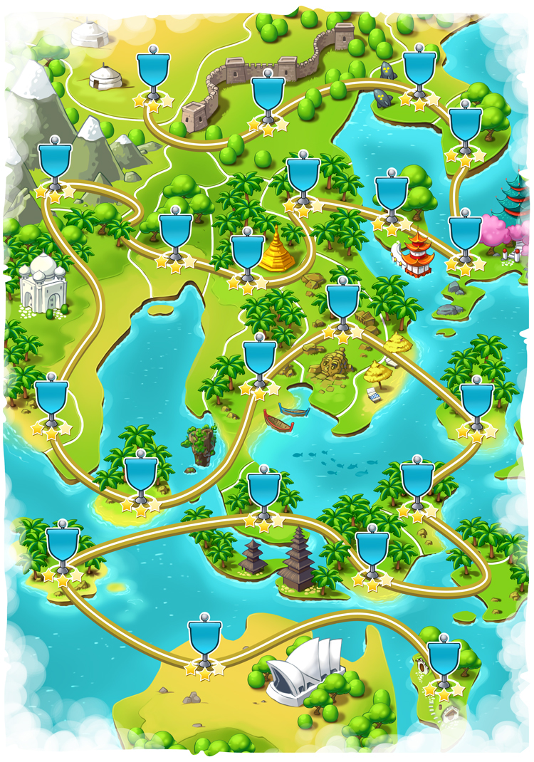 World maps for game on Behance