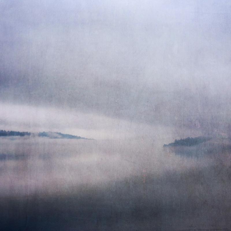 Puget Sound Photography Sally Banfill mist mood atmospheric clouds fine art photography coastal photography northwest art Vashon Island Colvos Passage Salish Sea