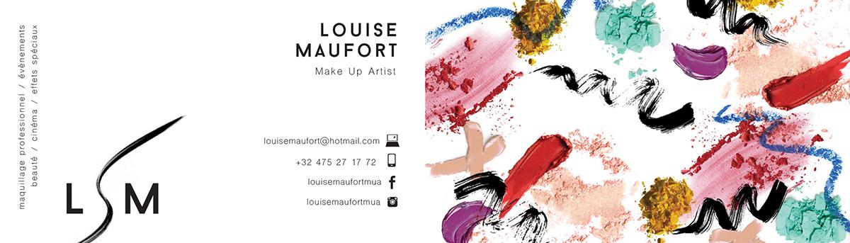 Louise Maufort Makeup Artist Carte De Visite
