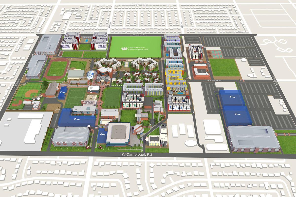 GCU Campus Map on Behance