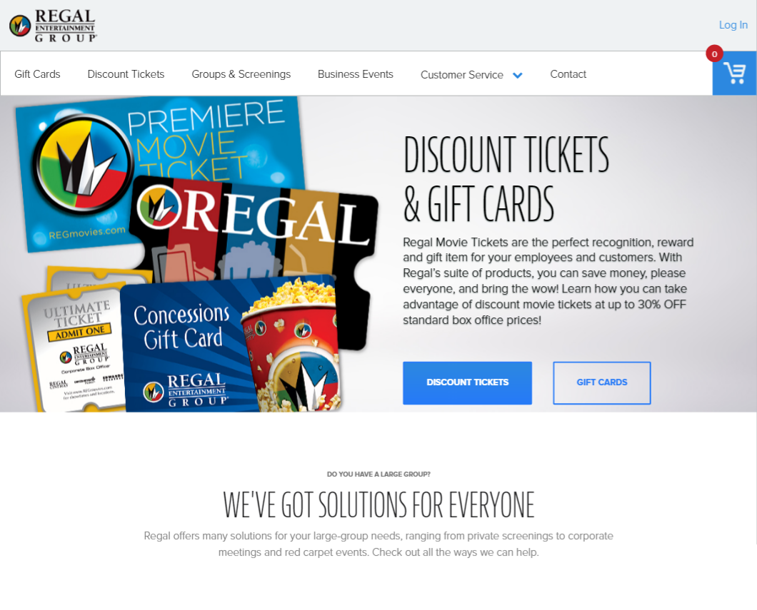 regal entertainment group corporate box office on behance