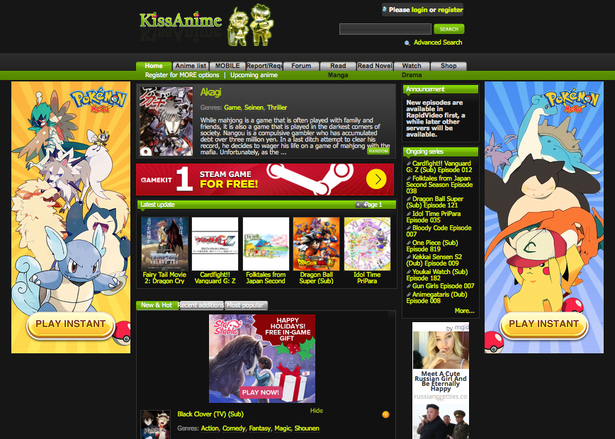 Redesign KissAnime ru on Behance