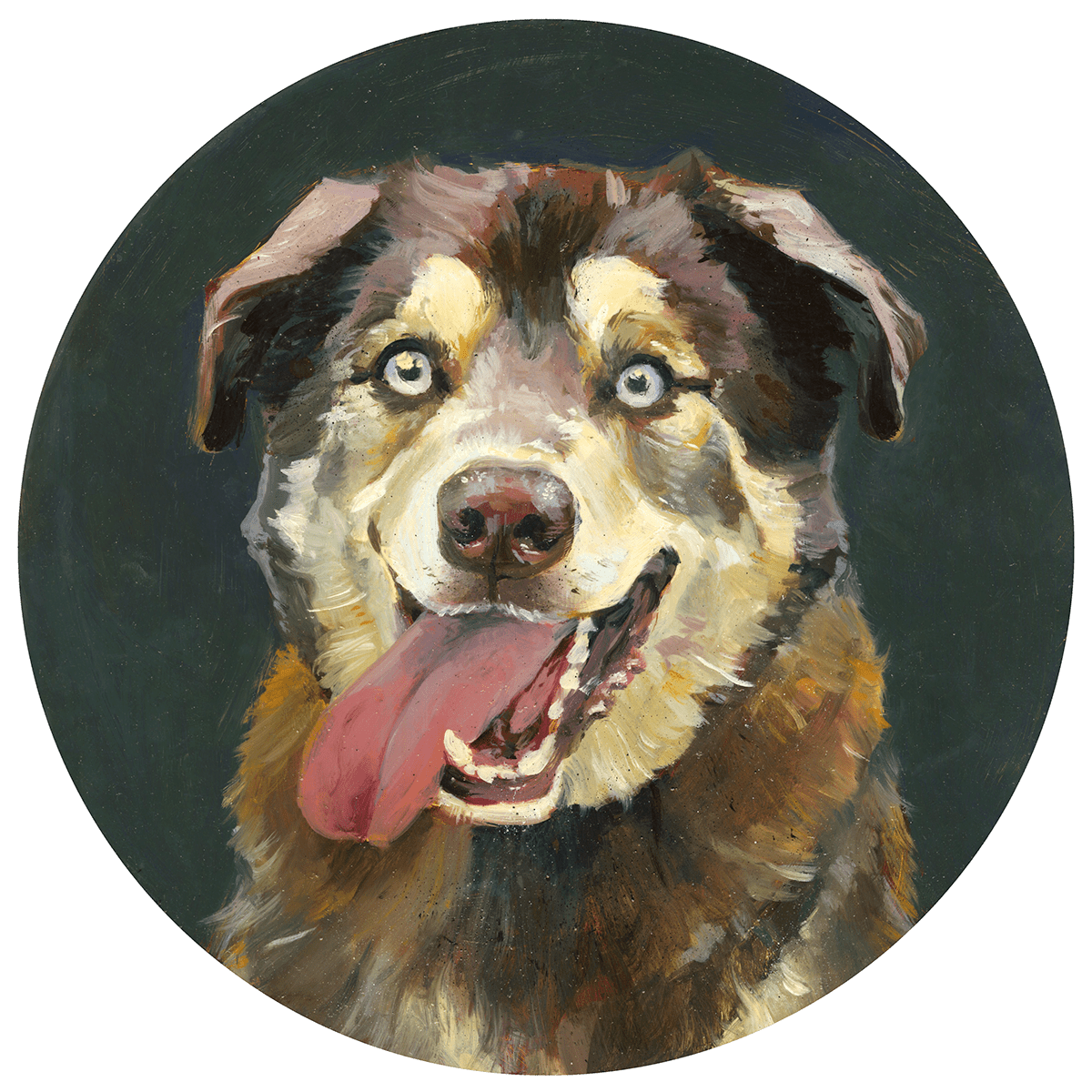 Image may contain: dog, painting and drawing