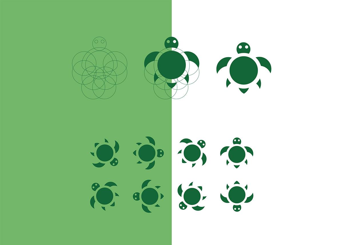 animals Turtle ladybag lizard bee pictogram Icon circle bag Collection