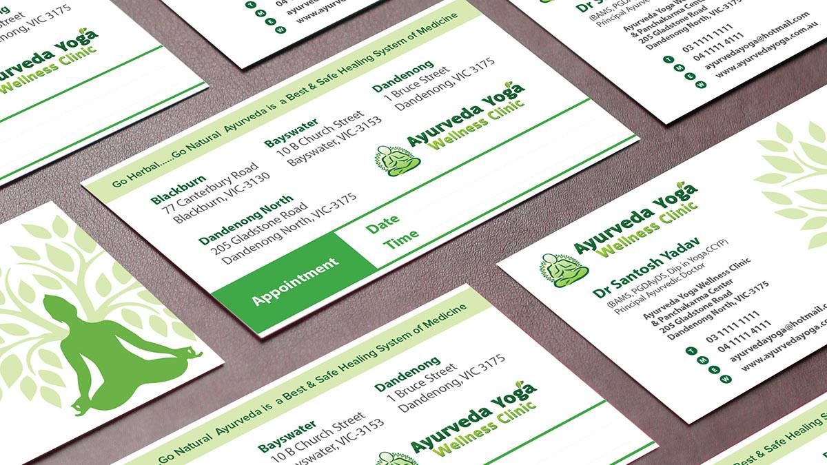 Ayurveda yoga visiting card design on behance thank you reheart Choice Image