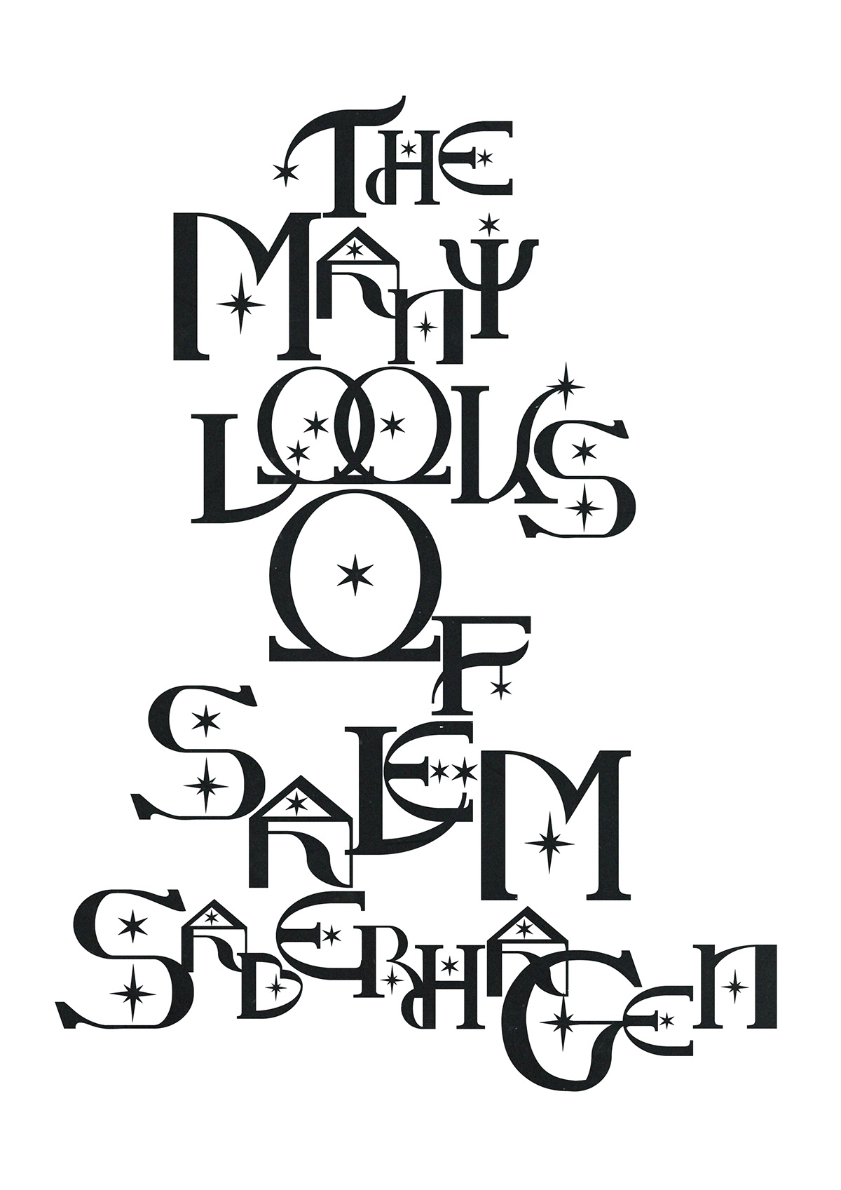 font graphic design  hex Magic   max mollison New Zealand sabrina star typography   witch