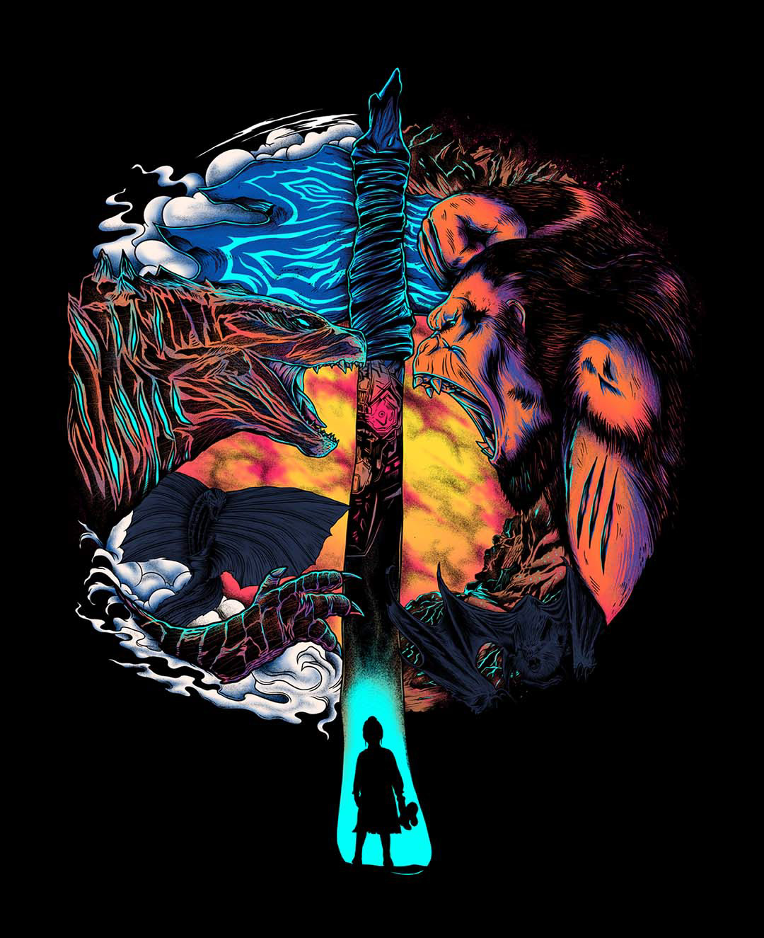 fanart godzilla GodzillavsKong gojira kaiju kingkong mechagodzilla Monsterverse movie TRENDING