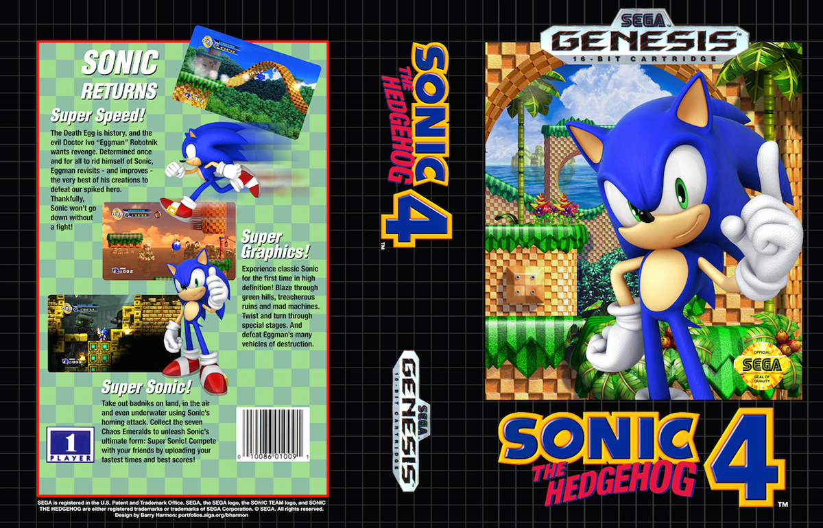 sonic the hedgehog 4 sega genesis cases on behance. Black Bedroom Furniture Sets. Home Design Ideas
