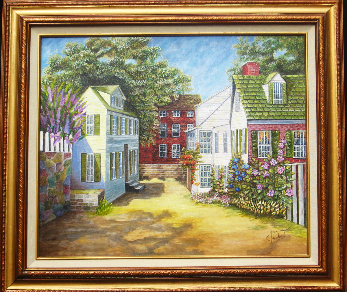 art exhibits comission colorful illuminate impressionist Kinkaid Monet lake Dog painting streetlight painting