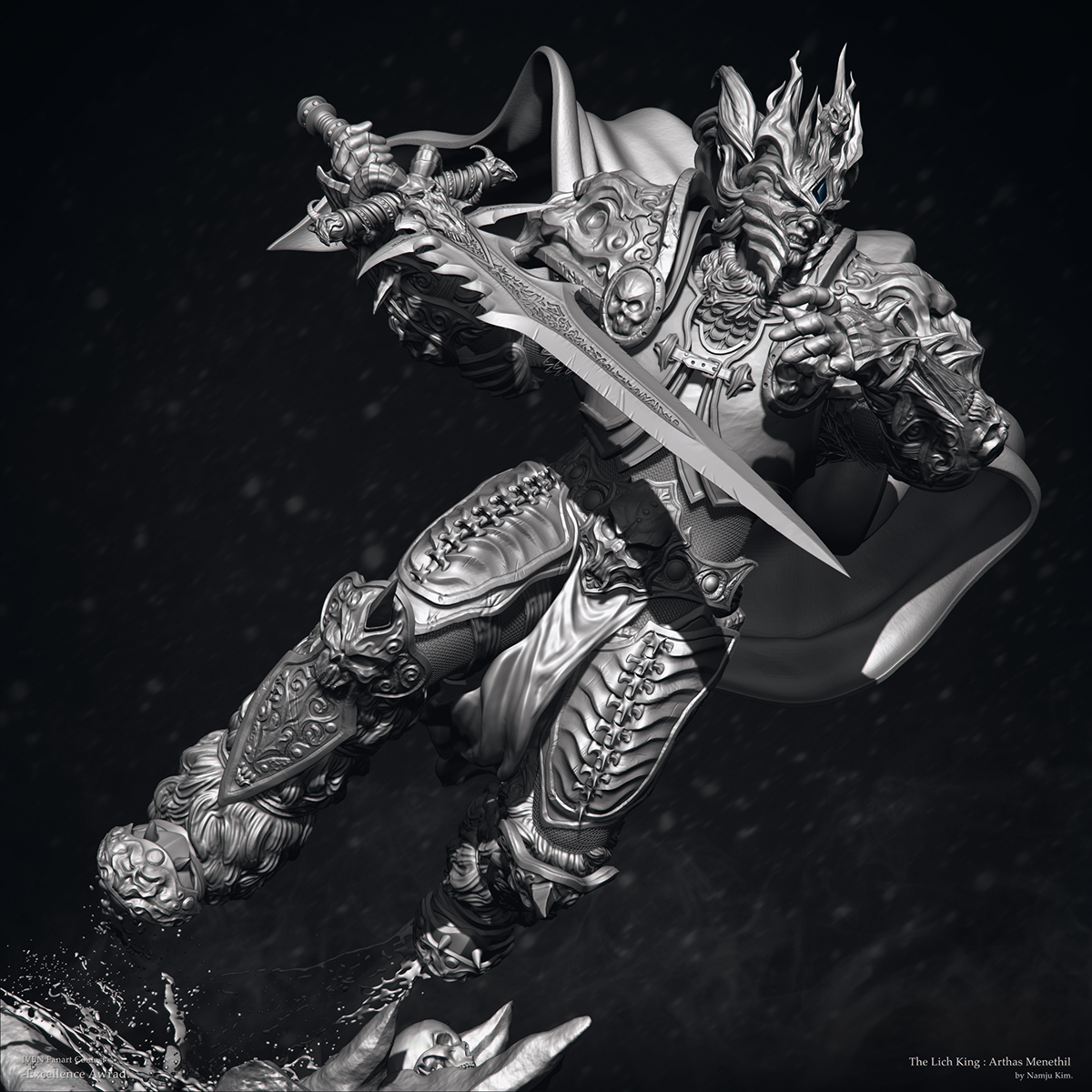 The Lich King Arthas Menethil On Behance