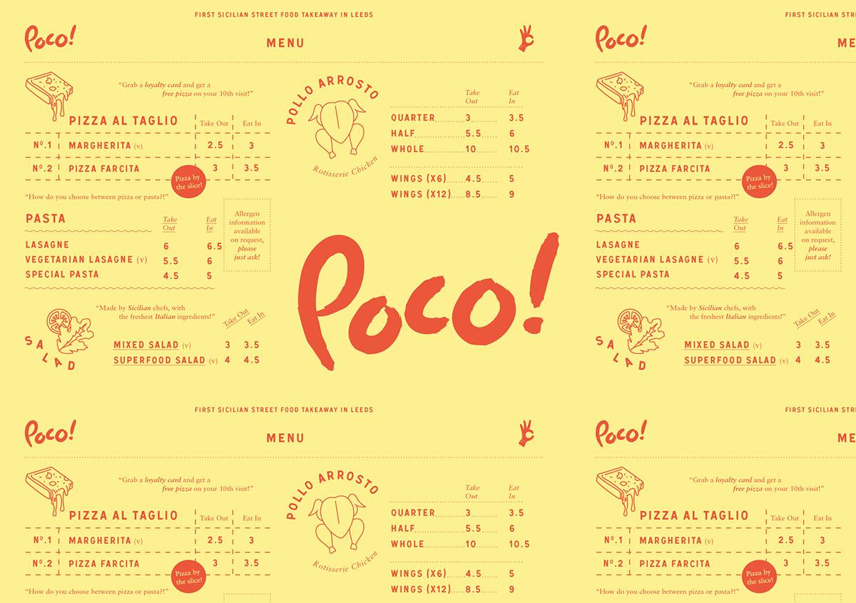 Pizza takeaway cafe restaurant italian Food  typography   menu Coffee lettering