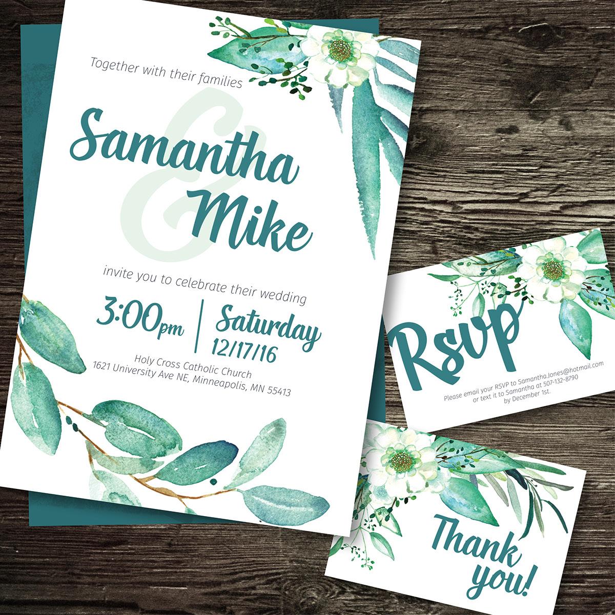 Eucalyptus Wedding Suite on Behance