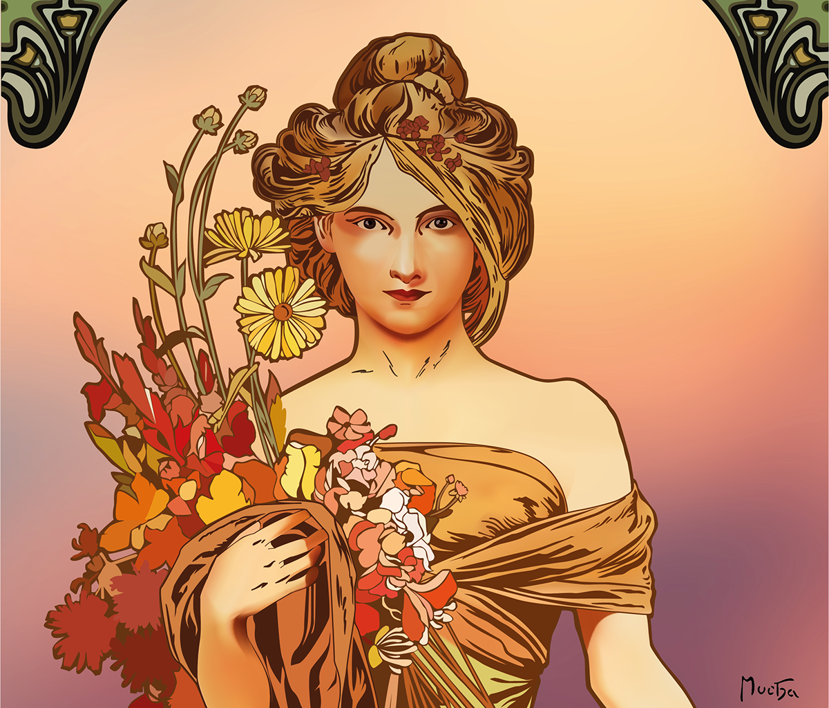 Alphonse Mucha Illustrator Project On Behance