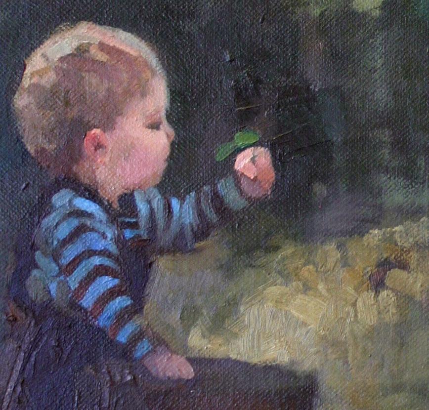 Adobe Portfolio portrait figure figurative commision children oil paint