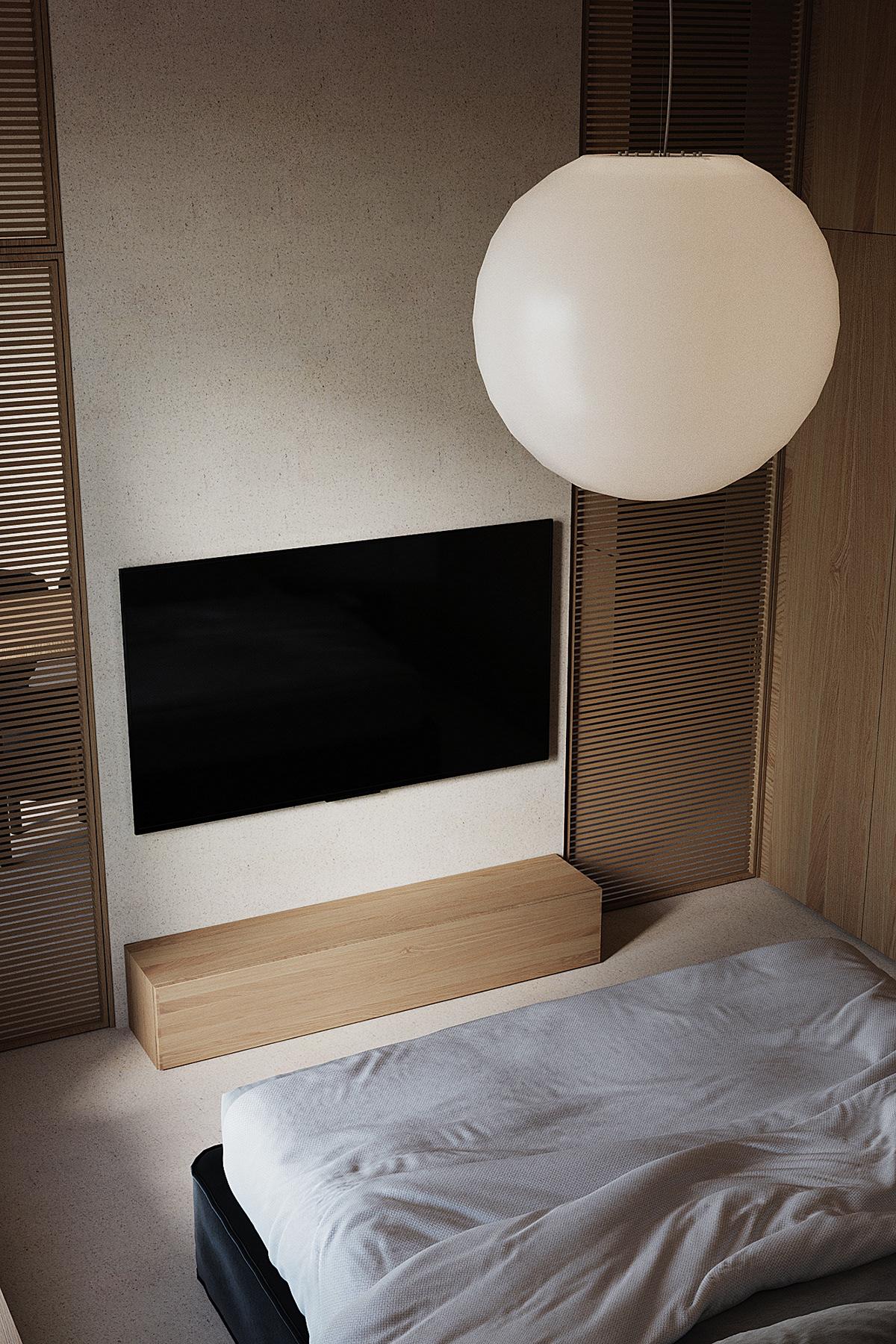 bedroom design interior Minimalism modern interior contemporary design corona render  cozy design Minimalism interior natural design Vizualization