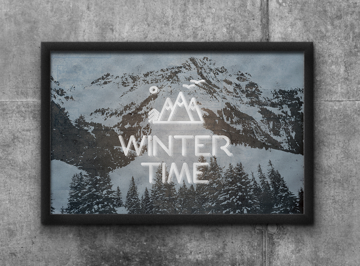 winter invierno mountain Montana SKY poster revolutum revolutumproject