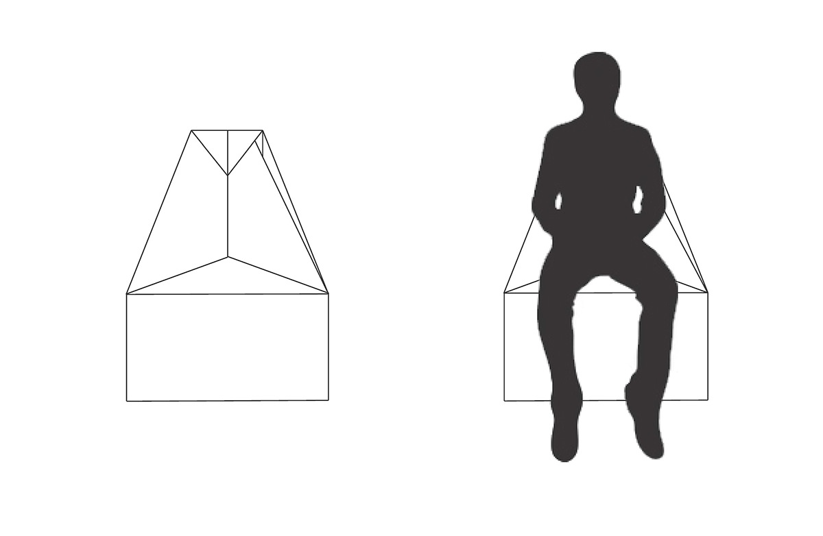 cardboard chair furniture fold origami  Ryerson