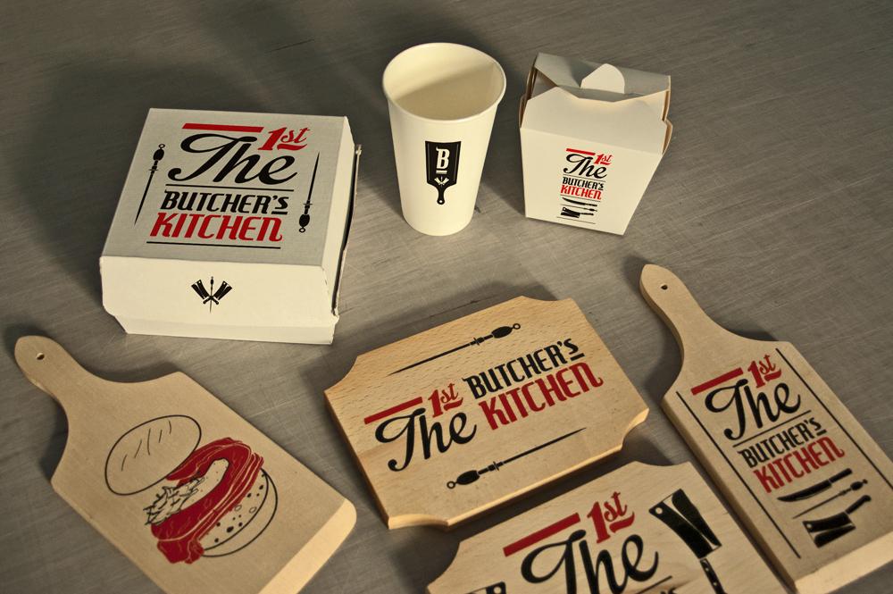 butcher kitchen streetfood logo identity