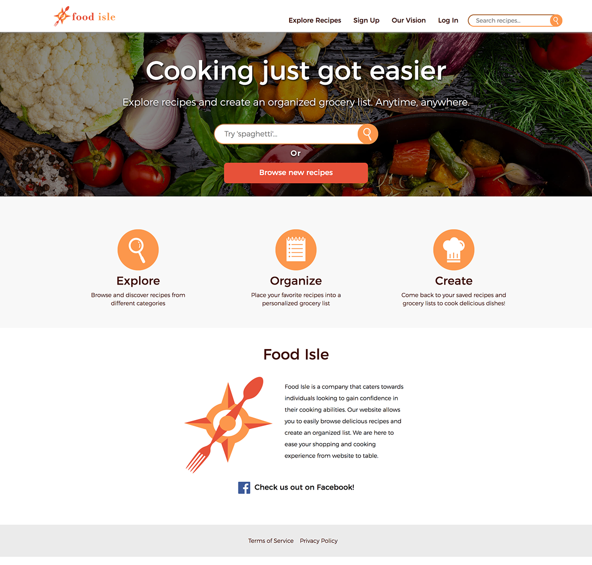 Food isle web design on behance the recipes were scraped from the spoonacular api and organized into the database by the engineers forumfinder Gallery