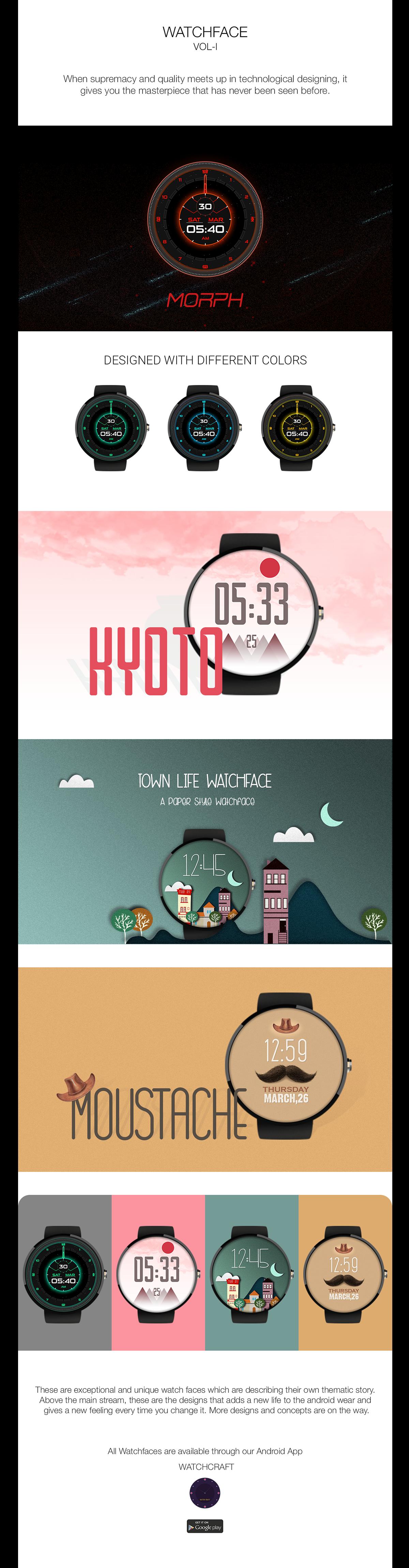 nextin Watchfaces Android Wear smart watch ILLUSTRATION  wear smart wear custom watchface