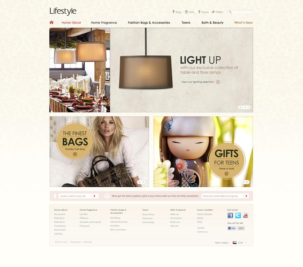 lifestyle fashion website Online shop Shopping landmark group Hospitality Ecommerce