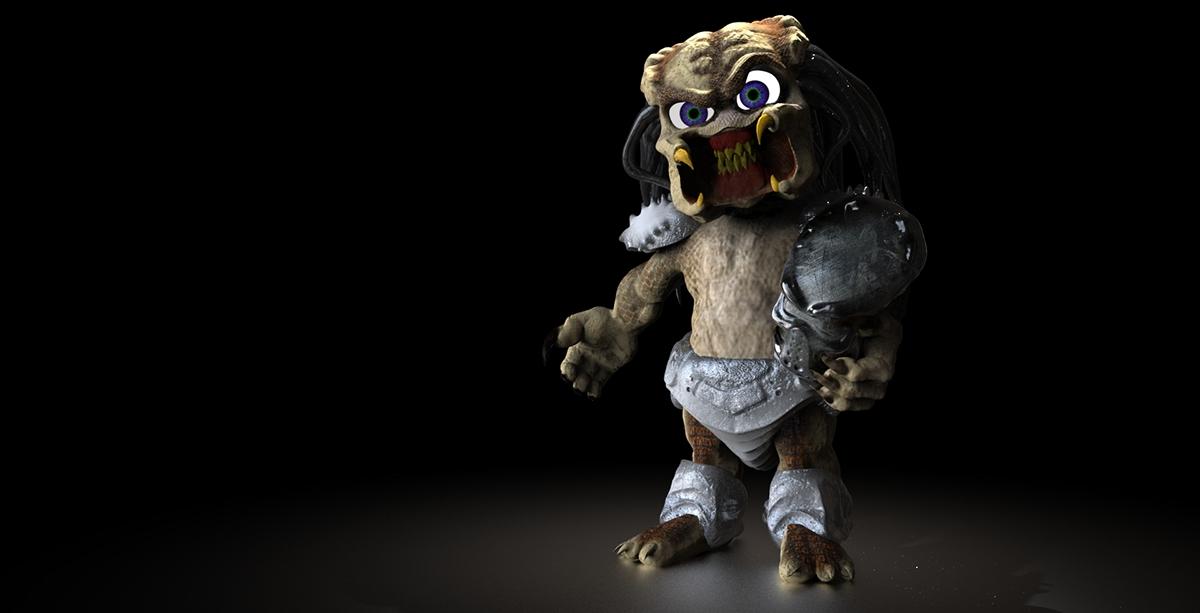 baby predator Digital Sculpting