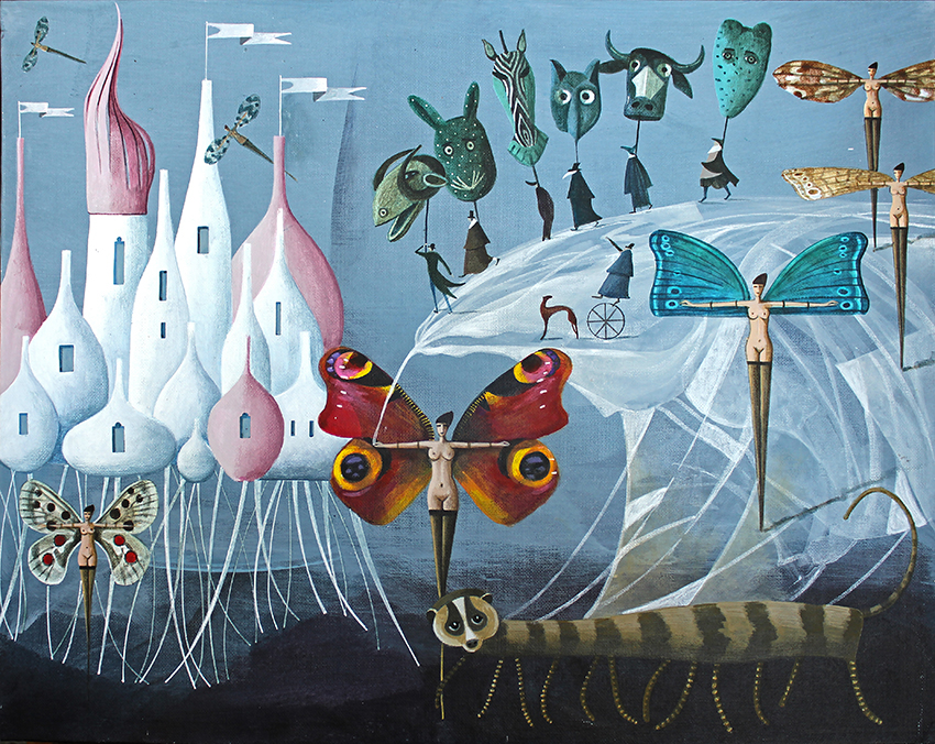 Behance ILLUSTRATION  painting   Magic   fairytale surreal Castle creatures Drawing