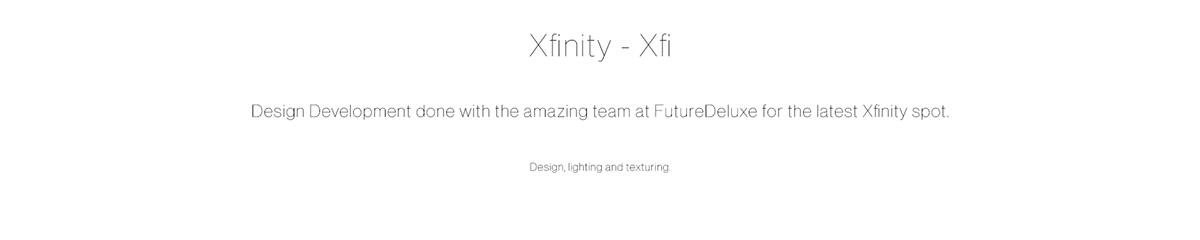 3D c4d CGI design FutureDeluxe lighting product redshift xfinity