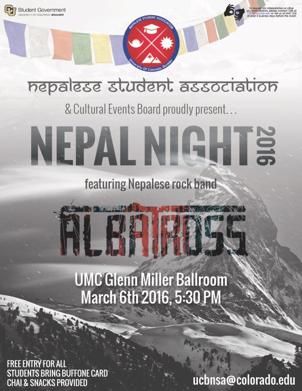 #NepalNight #CUBoulder nsa