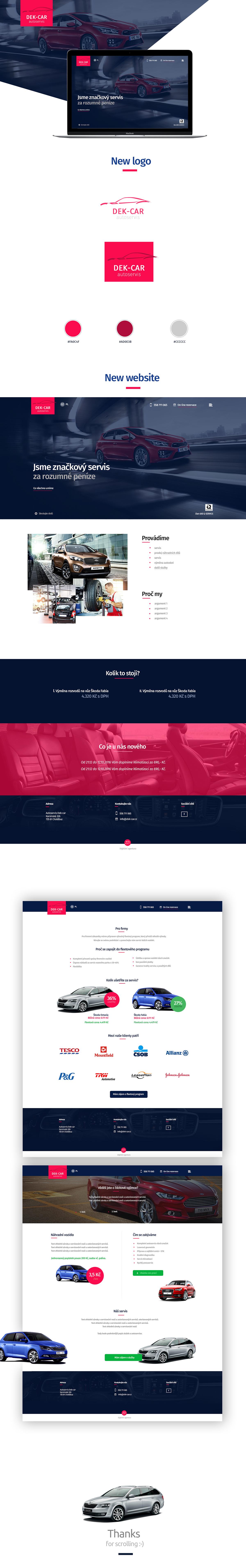autoservis Repair desing car service Webdesign Responsive Design ux UI