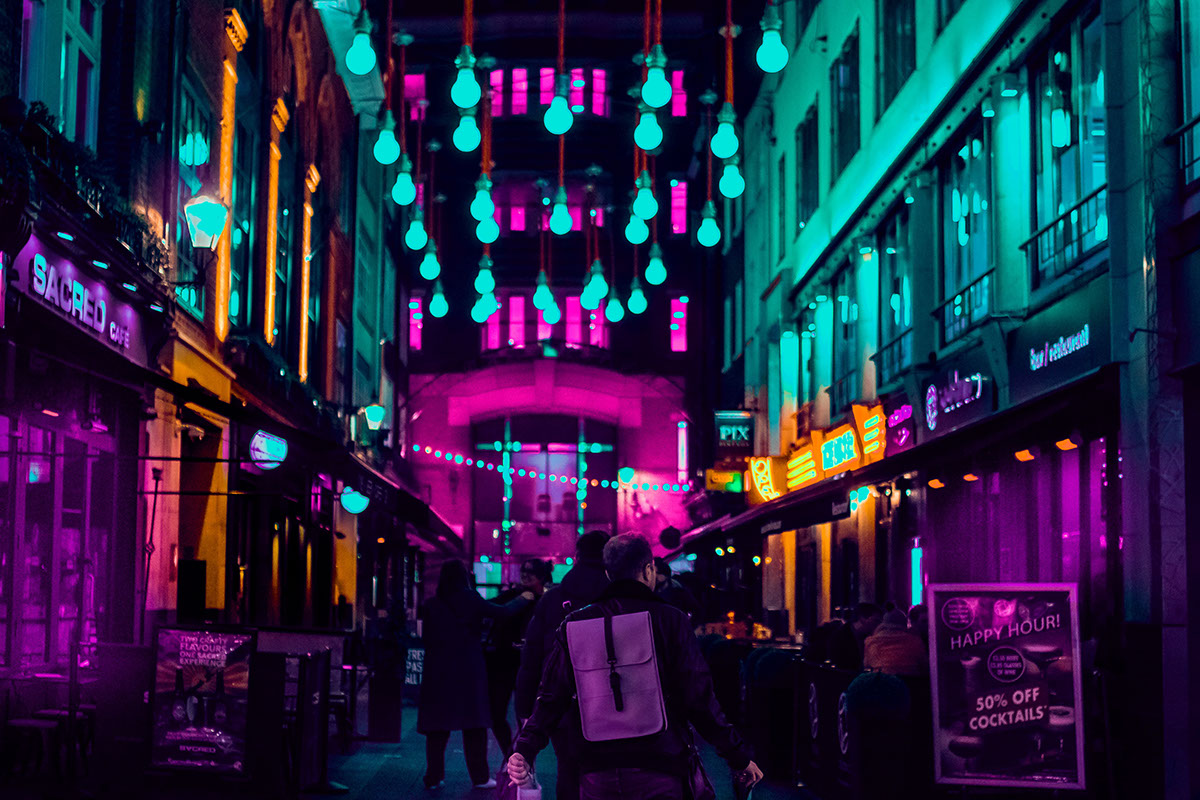 color colorful neon night street photography night photography Photography  light Urban colors