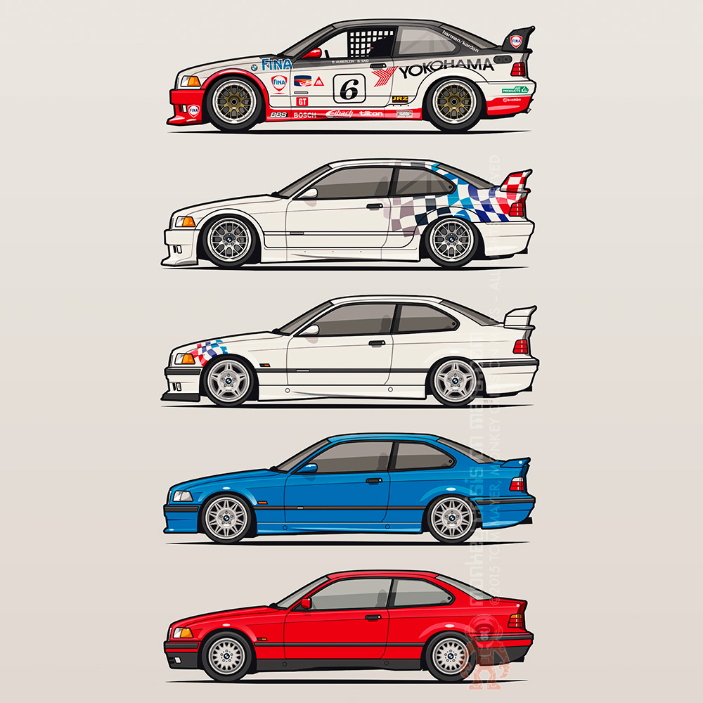 BMW 3 Series E36 Coupes on Behance