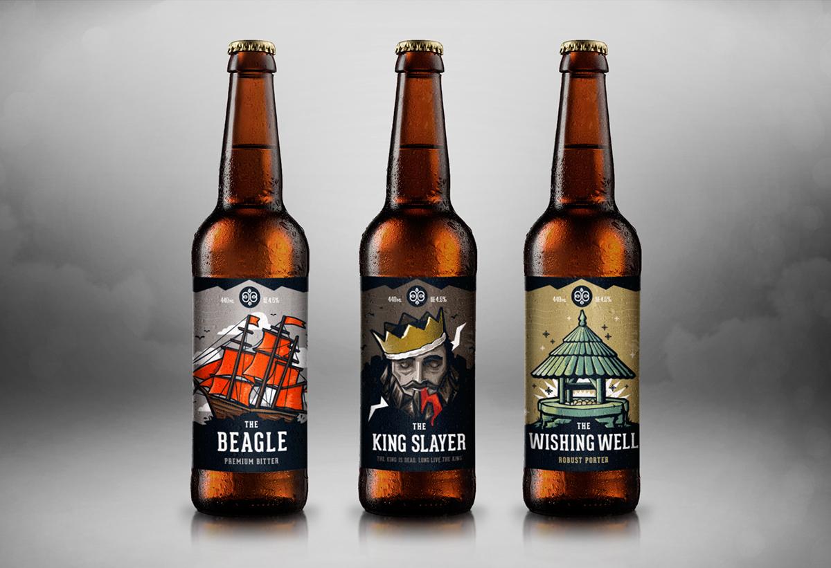 Backwards Bean Brewery Label Design Illustration On Behance