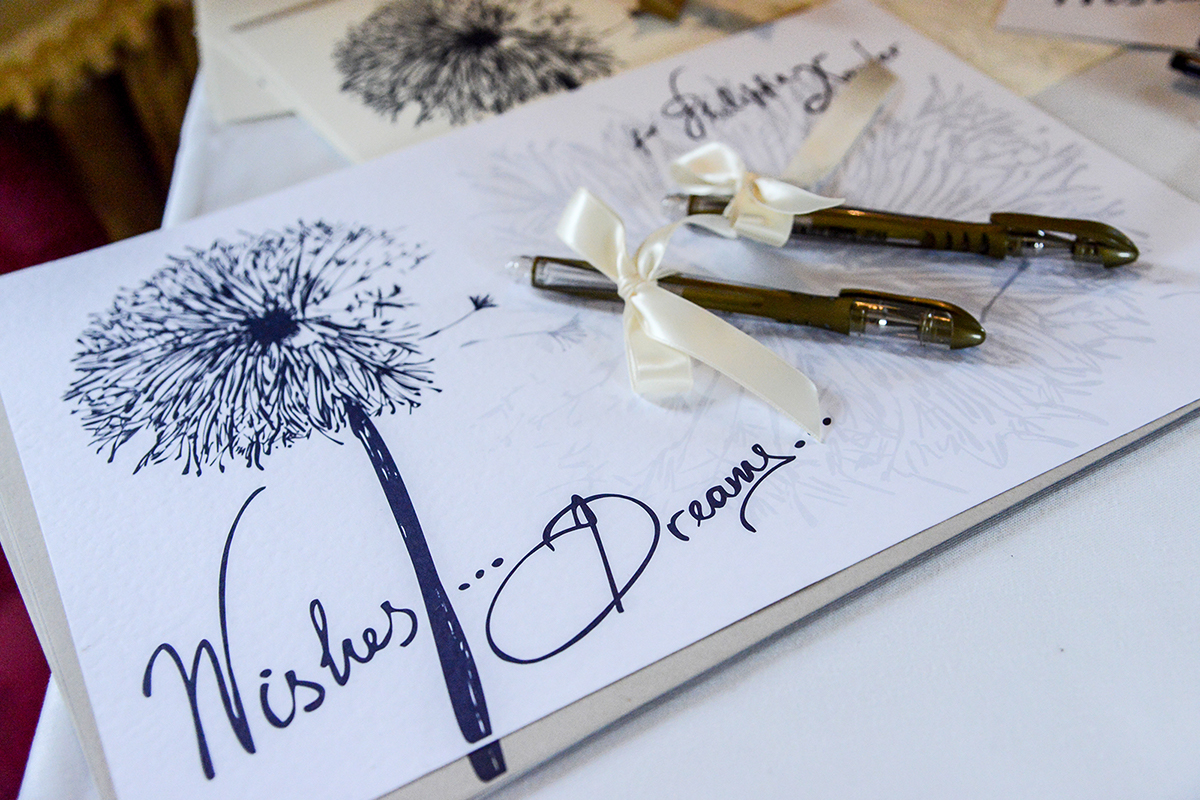 Wedding Wish Cards hand lettering messages
