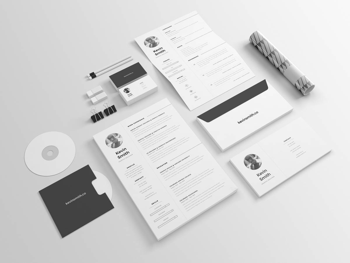 clean minimal resume template on behance get your dream job today